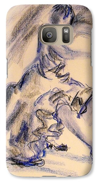 Galaxy Case featuring the painting Flamenco Dancer 3 by Koro Arandia