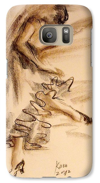 Galaxy Case featuring the painting Flamenco Dancer 5 by Koro Arandia