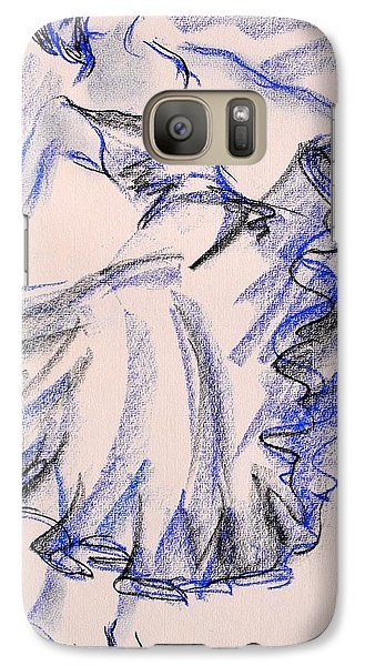 Galaxy Case featuring the painting Flamenco Dancer 8 by Koro Arandia