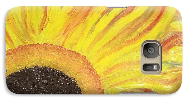 Galaxy Case featuring the painting Flaming Sunflower by Margaret Harmon