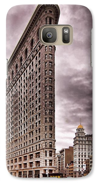 Galaxy Case featuring the photograph Flat Iron Building by Michael Dorn