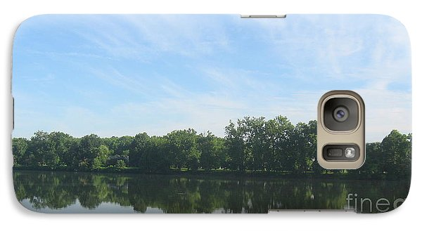 Galaxy Case featuring the photograph Flat Water by Nancy Dole McGuigan