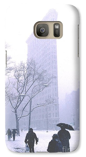 Galaxy Case featuring the photograph Flatiron Building In A Major Snowstorm by Tom Wurl