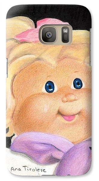 Galaxy Case featuring the drawing Flea Market Toy Series 1 by Ana Tirolese