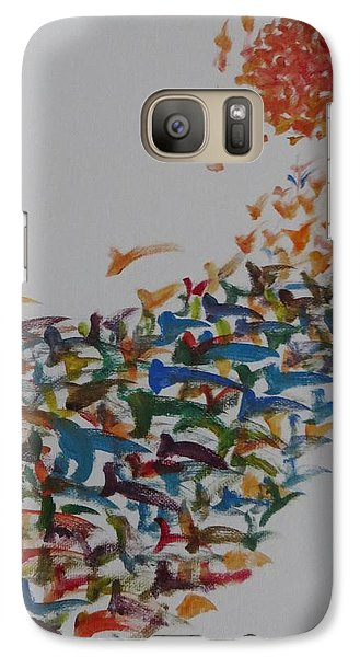 Galaxy Case featuring the painting Fleet Of Birds by Sonali Gangane