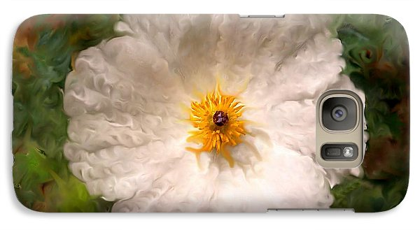 Galaxy Case featuring the photograph Fleur Blanche by Sylvie Leandre