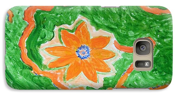 Galaxy Case featuring the painting Floating Flower by Sonali Gangane