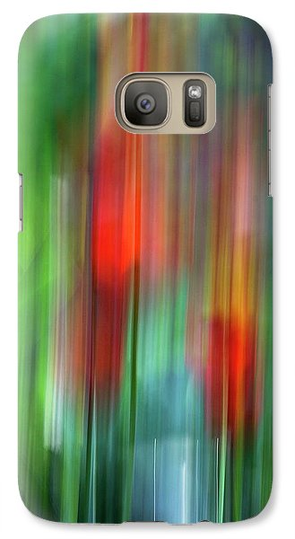 Galaxy Case featuring the photograph Floral Abstract by Raffaella Lunelli