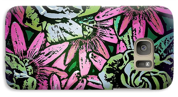 Galaxy Case featuring the digital art Floral Explosion by George Pedro