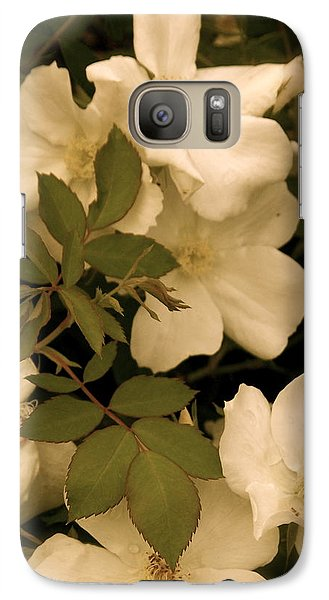 Galaxy Case featuring the photograph Floral Vignette by Robin Regan