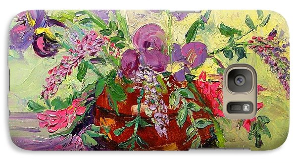 Galaxy Case featuring the painting Floral With Knives by Carol Berning