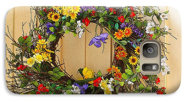 Galaxy Case featuring the photograph Floral Wreath by Cindy Haggerty
