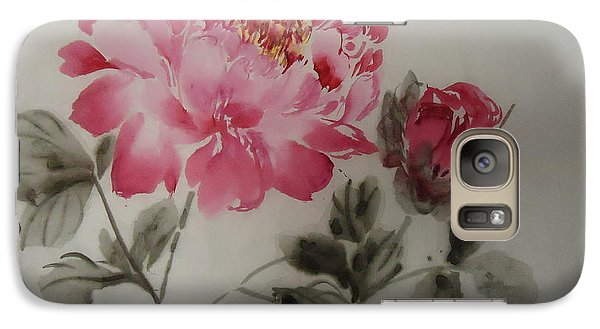 Galaxy Case featuring the painting Floral8152012-3 by Dongling Sun
