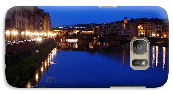 Galaxy Case featuring the photograph Florence Arno River Night by Patrick Witz