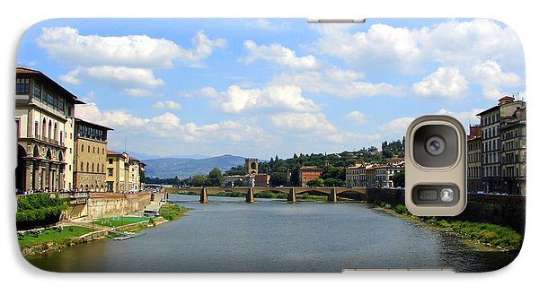 Galaxy Case featuring the photograph Florence Arno River by Patrick Witz