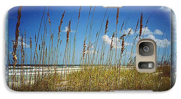Galaxy Case featuring the photograph Perfect Day At A Florida Beach by Barbara Middleton