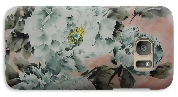 Galaxy Case featuring the painting Flower 8152012--7 by Dongling Sun