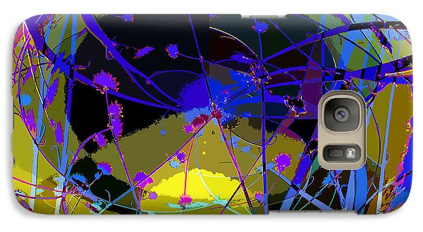 Galaxy Case featuring the digital art Flower Abstract by Anne Mott