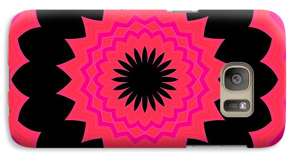 Galaxy Case featuring the digital art Flower Power by Carolyn Repka