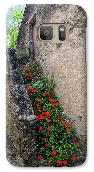 Galaxy Case featuring the photograph Flower Stairway by Dave Mills
