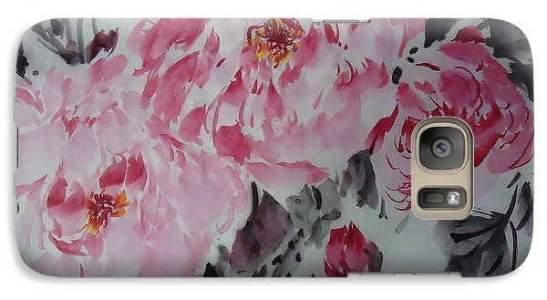 Galaxy Case featuring the painting Flower705012-4 by Dongling Sun