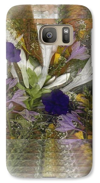 Galaxy Case featuring the mixed media Flowers For You To Infinity by Ray Tapajna