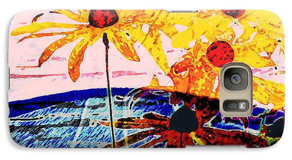 Galaxy Case featuring the photograph Flowers From Another World by Lenore Senior and David Bearden