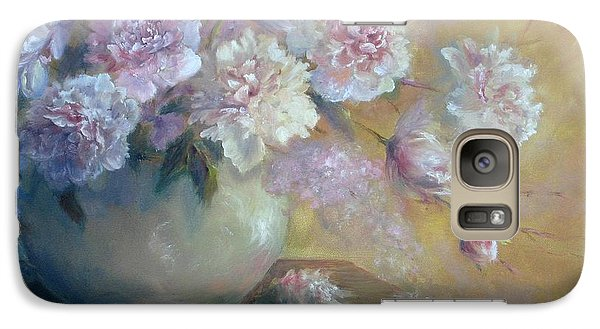Galaxy Case featuring the painting Flowers In June by Bonnie Goedecke
