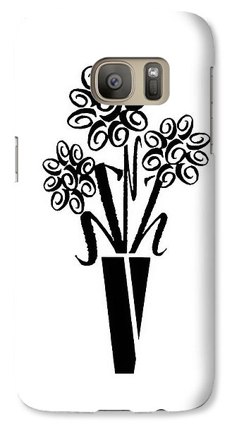 Galaxy Case featuring the photograph Flowers In Type by Connie Fox