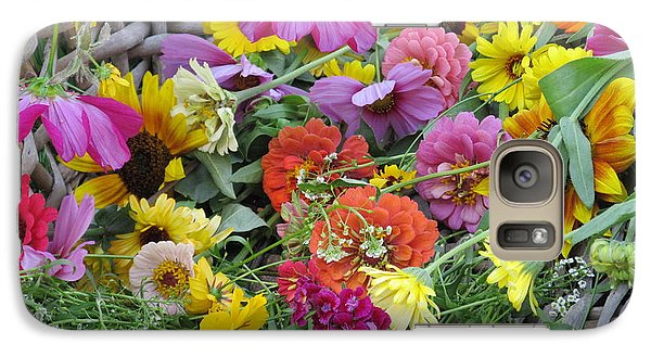 Galaxy Case featuring the photograph Flowers by Tina M Wenger