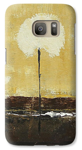 Galaxy Case featuring the painting Fluff In White by Kathy Sheeran