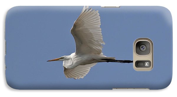 Galaxy Case featuring the photograph Flying Egret by Jeannette Hunt