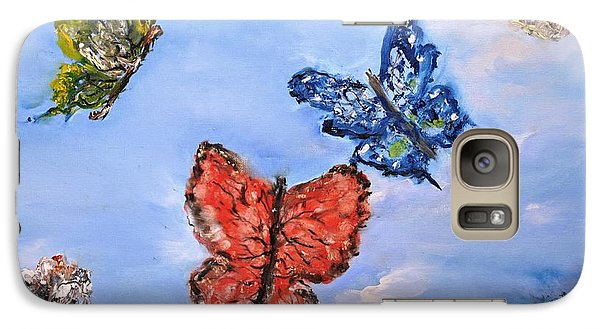 Galaxy Case featuring the painting Flying by Evelina Popilian