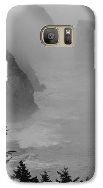 Galaxy Case featuring the photograph Fog And Cliffs Of The Oregon Coast by Mick Anderson