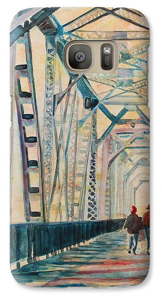 Foggy Morning On The Railway Bridge IIi Galaxy Case by Jenny Armitage