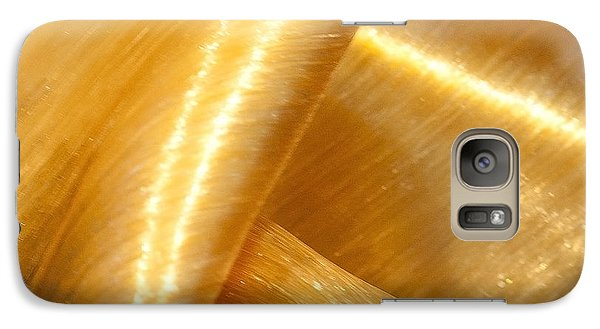 Galaxy Case featuring the photograph Folding Gold by Artist and Photographer Laura Wrede