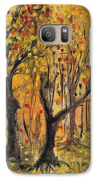 Galaxy Case featuring the painting Foliage by Evelina Popilian
