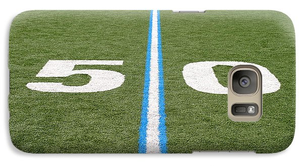 Galaxy Case featuring the photograph Football Field Fifty by Henrik Lehnerer