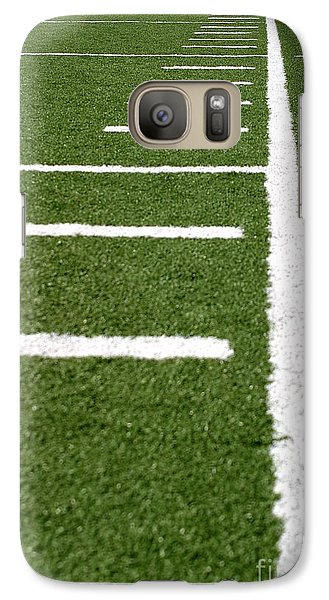 Galaxy Case featuring the photograph Football Lines by Henrik Lehnerer