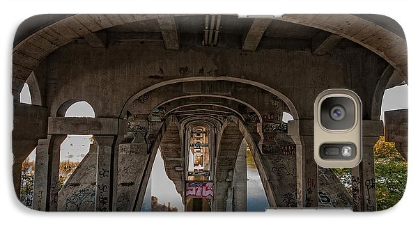 Galaxy Case featuring the photograph Ford Parkway Bridge by Tom Gort
