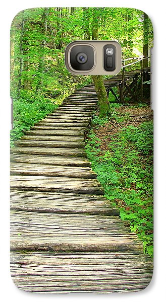 Galaxy Case featuring the photograph Forest Path by Ramona Johnston