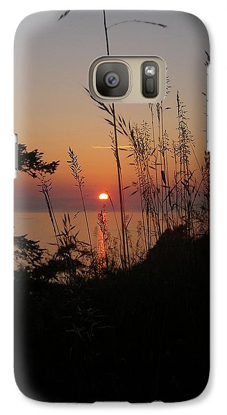 Galaxy Case featuring the photograph Fort Ebey Sunset by Cheryl Perin