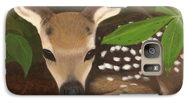 Galaxy Case featuring the painting Found A Fawn by Janet Greer Sammons