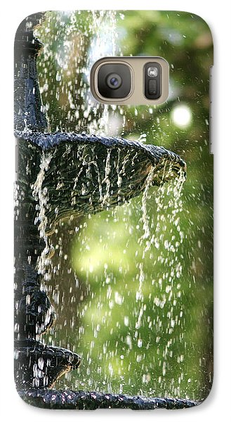 Galaxy Case featuring the photograph Fountain At Capitol Square by Suzanne Powers