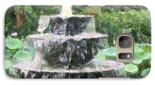 Galaxy Case featuring the photograph Fountain by Donna  Smith