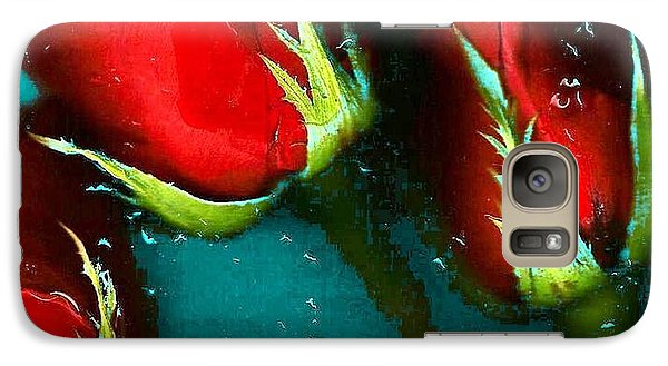 Galaxy Case featuring the photograph Four Roses by Carolyn Repka