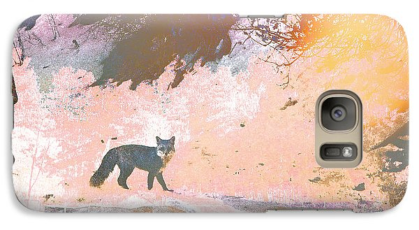 Galaxy Case featuring the photograph Fox In The Forest 2 by Lenore Senior and Tammy Sutherland