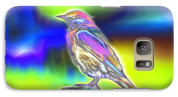 Galaxy Case featuring the digital art Fractal - Colorful - Western Bluebird by James Ahn