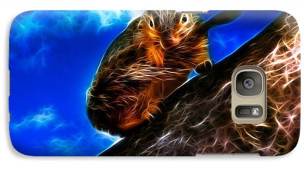 Galaxy Case featuring the digital art Fractal - How Do You Like My Mustache - Robbie The Squirrel by James Ahn