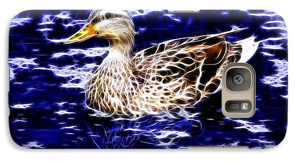 Galaxy Case featuring the digital art Fractal - Mallard In Pond- 9164 by James Ahn
